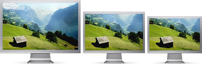 Les nouveaux écrans look alu